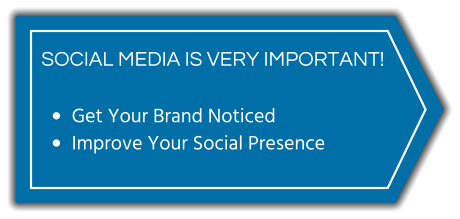 SOCIAL MEDIA IS VERY IMPORTANT! •	Get Your Brand Noticed •	Improve Your Social Presence